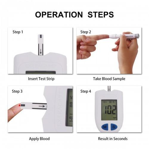 steps to use the blood sugar test machine