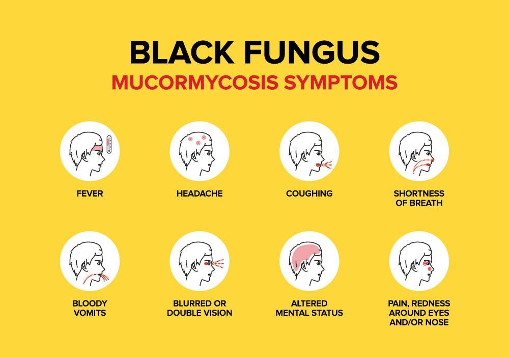 black fungus or mucormycosis symptoms