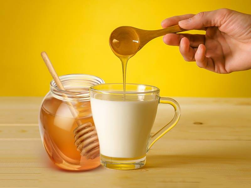 honey and milk to reduce high sugar