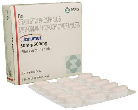 Janumet 50 mg / 500 mg Tablet to Control High Blood Sugar Levels