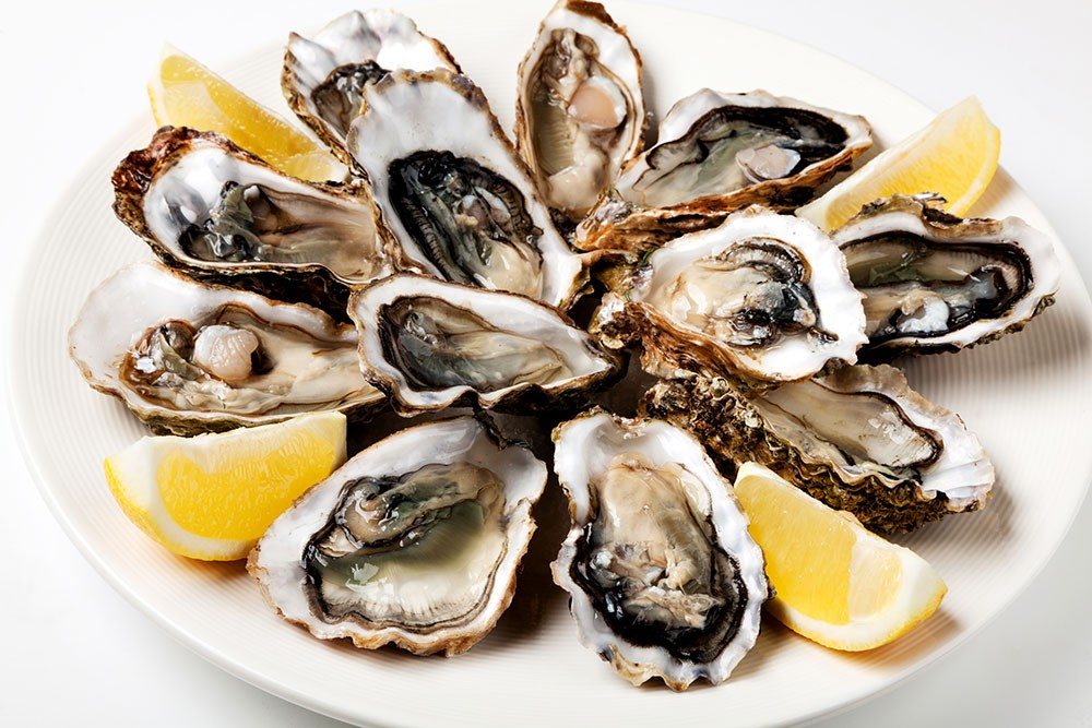 oysters - good sources of omega 3 fatty acids
